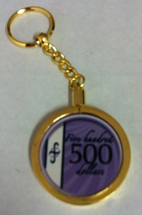 Poker Key Ring B-Class chip 500
