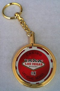 Poker Key Ring Las Vegas chip 5