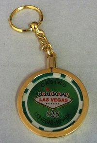 Poker Key Ring Las Vegas chip 25