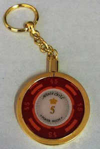 Poker Key Ring Montecarlo chip 5
