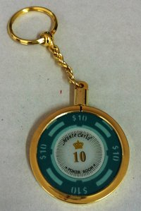 Poker Key Ring Montecarlo chip 10