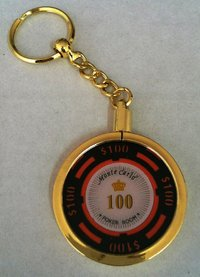 Poker Key Ring Montecarlo chip 100