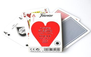 Fournier 100% Plastic Poker Cards Standard red