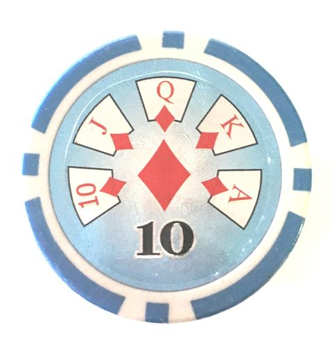 Rolls of 25High Roller Poker Chips value 10