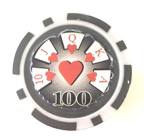 Rolls of 25 High roller Poker Chips value 100