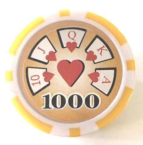 Rolls of 25 Royal Flush Poker Chips value 1000