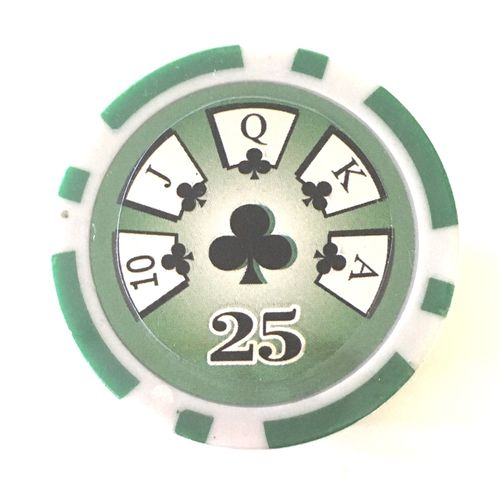 Rolls of 25 High Roller Poker Chips value 25