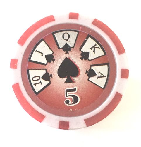 Rolls of 25 High Roller Poker Chips value 5