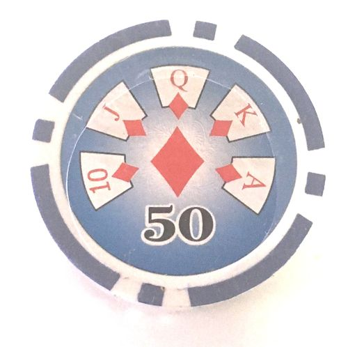 25 Fichas Poker High Roller valor 50
