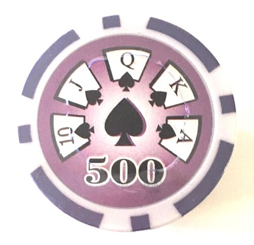 Rolls of 25 High roller  Poker Chips value 500