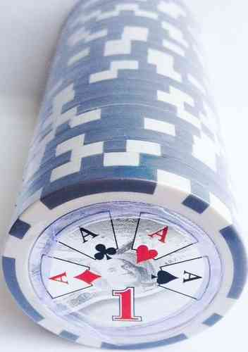 Rolls of 25 High Roller Poker Chips value 1