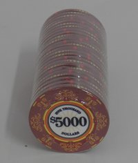 Ceramic Casino Royale Chips 5000