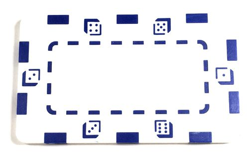 Plaque Abs Dice blanc