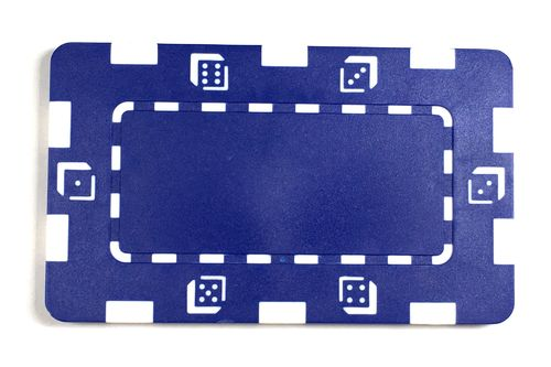 ABS Dice blue plate