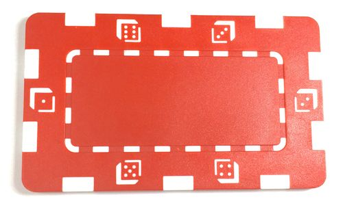 Plaque Abs Dice rouge