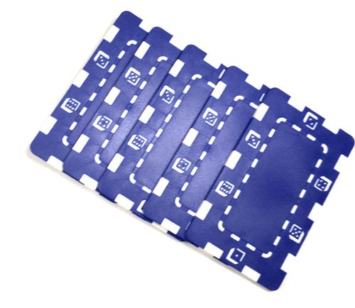 Pack 5 Placas Abs Dice azul