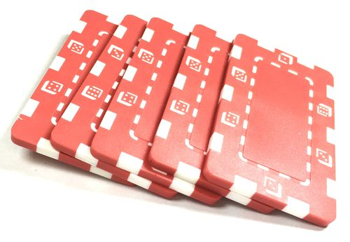 Pack 5 Placas Abs Dice rojo