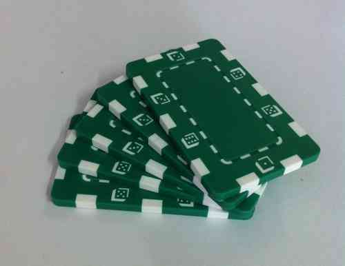 Pack 5 Placas Abs Dice verde