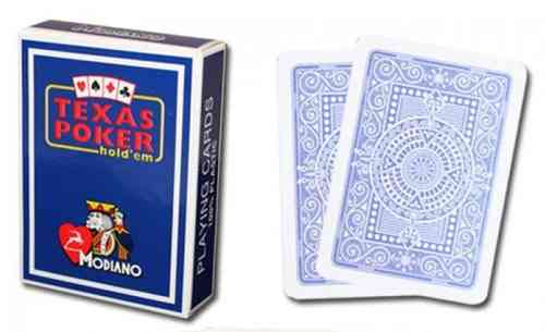 Modiano Texas Poker Cards blue