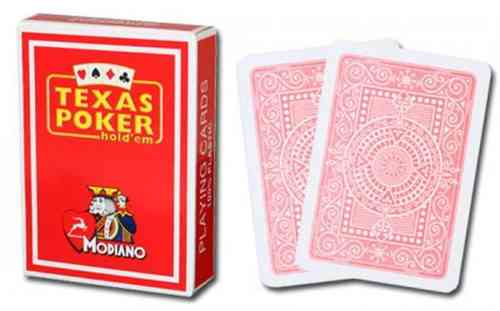 Modiano Texas Poker Cards red