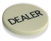 White Dealer Button