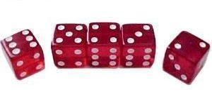 Set 5 red dices