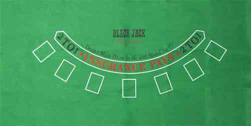 Green Blackjack Felt