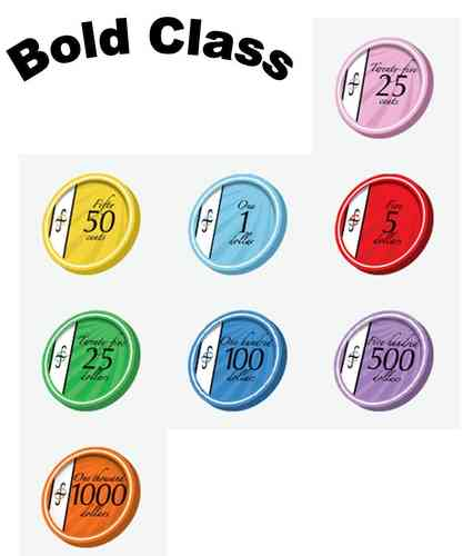 200 Ceramic Chips Bold Class