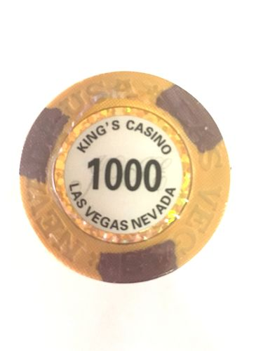 25 Jetons Clay Kings valeur 1000