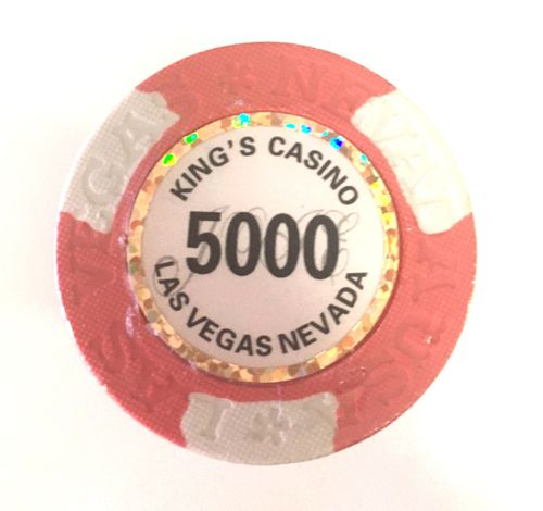25 Jetons Clay Kings valeur 5000