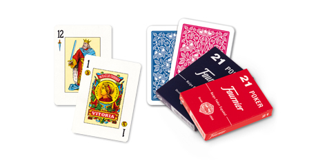 Cartas Fournier 21 rojo