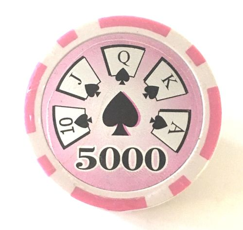 Rolls of 25 High Roller Poker Chips value 5.000