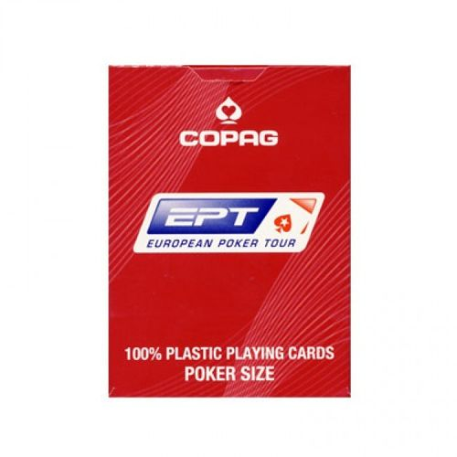 Copag cards 100% Plastic red EPC