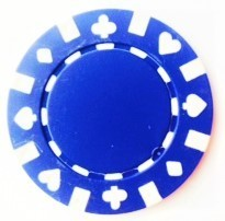 Rolls of 25 Blue Suited Poker Chips