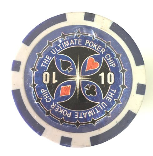 Rolls of 25 Ultimate Poker Chips value 10 dark blue