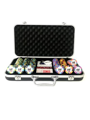 poker chips set Rounders black TOURNAMENT 300