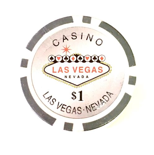 Rolls of 25 Las Vegas Poker Chips value 1$