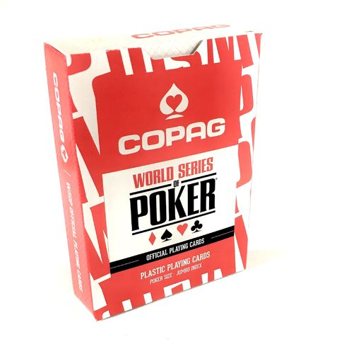 Copag cards 100% Plastic red WSOP