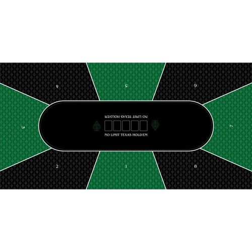 Poker layout rubber grip rectangular Green