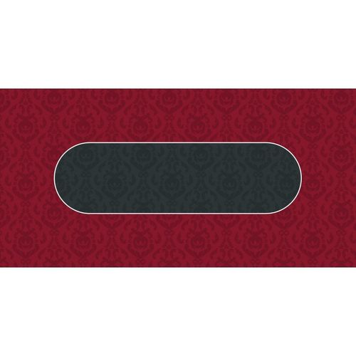 Poker layout rubber grip rectangular Victorian Red