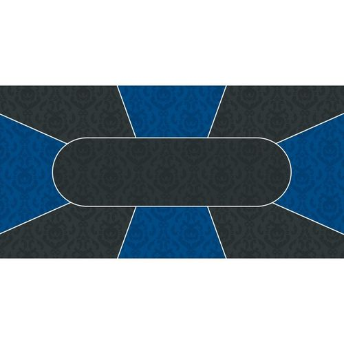 Poker layout rubber grip rectangular Victorian blue