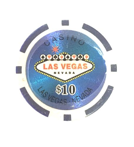 Rolls of 25 Las Vegas Poker Chips value 10$