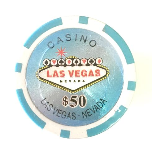 Rolls of 25 Las vegas Poker Chips value 50$