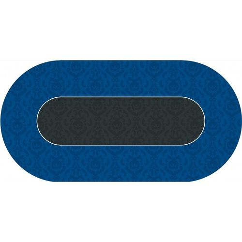 Poker layout rubber grip oval Victorian Blue