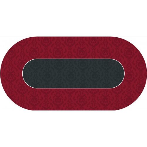 Poker layout rubber grip oval Vicotiran red