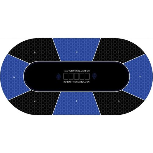 Poker layout rubber grip oval No Limit blue