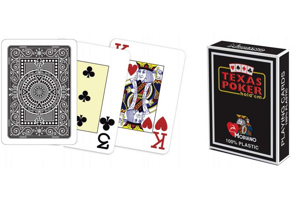 Modiano Texas Poker Cards Black Pokerproductos Com