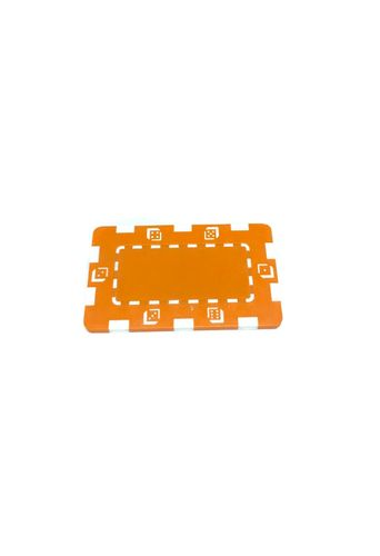 Placa Abs Dice Naranja