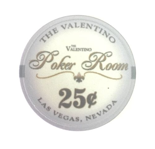 25 Ceramic Chips Valentino value 25c