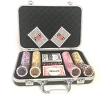 Poker Chips Set Royal Straight